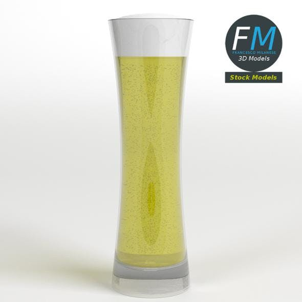 Glass with beer 12 - 3DOcean Item for Sale