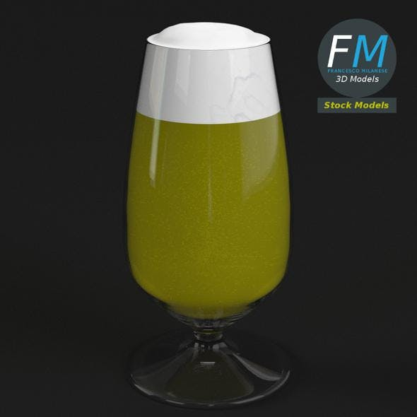 Glass with beer 4