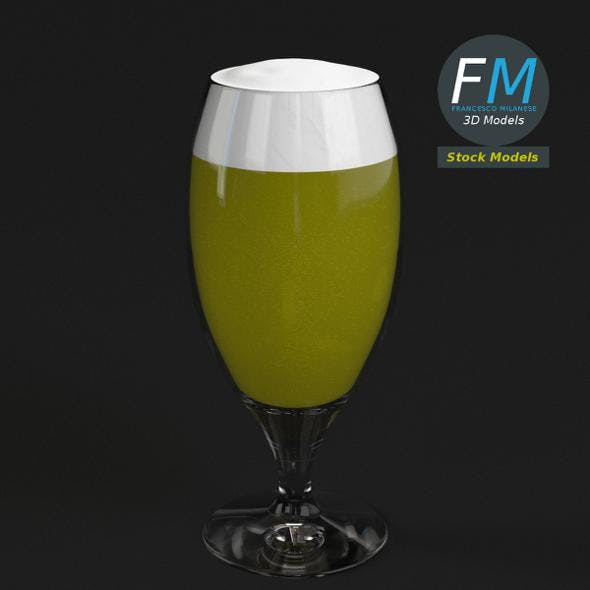 Glass with beer 5