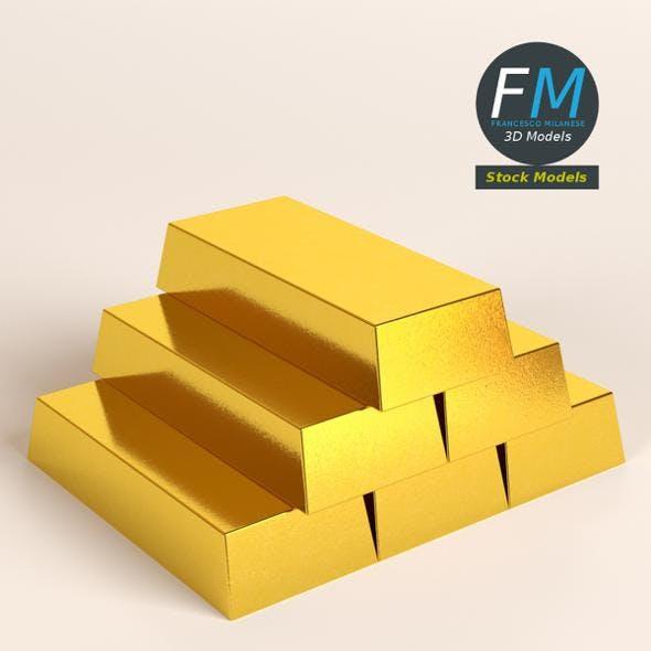 Gold bars - 3DOcean Item for Sale