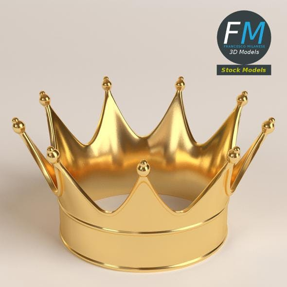 Gold crown 1 - 3DOcean Item for Sale