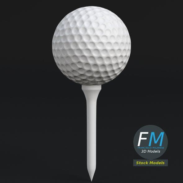 Golf ball and Tee set