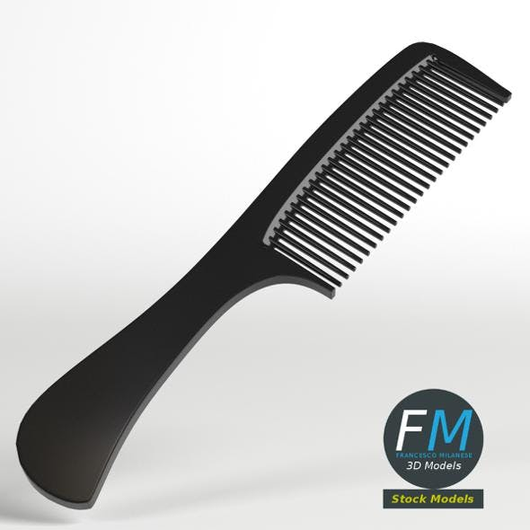 Hair comb with handle - 3DOcean Item for Sale