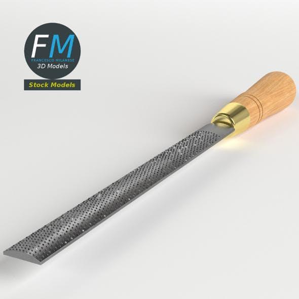 Half round rasp - 3DOcean Item for Sale