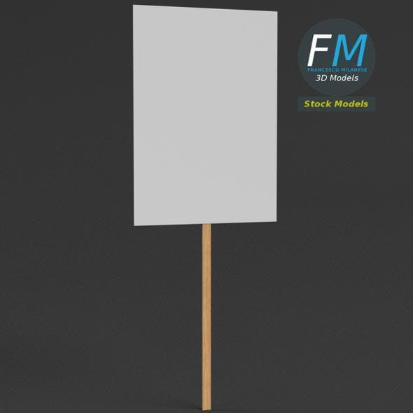 Handheld protest sign - 3DOcean Item for Sale