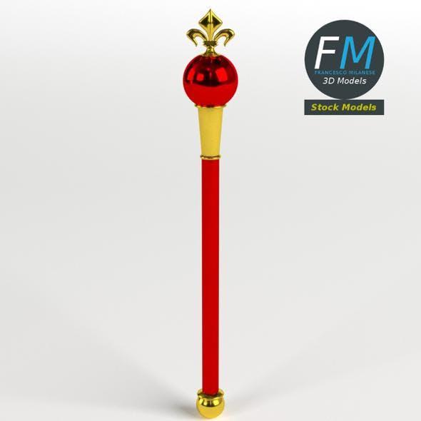 Heraldic scepter - 3DOcean Item for Sale