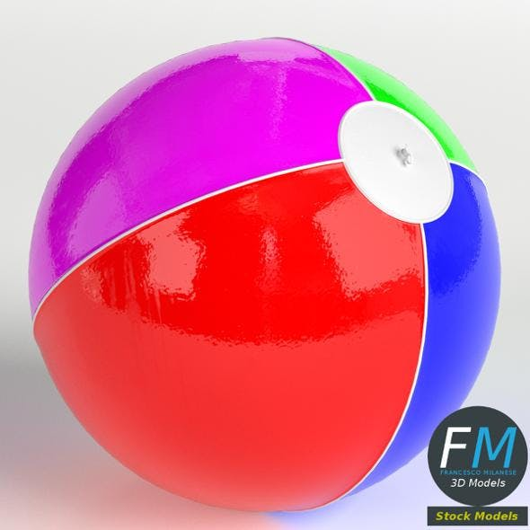Inflatable beach ball - 3DOcean Item for Sale