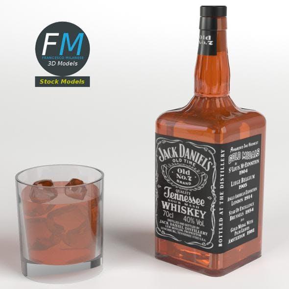 Jack Daniel's Bottle and Glass - 3DOcean Item for Sale