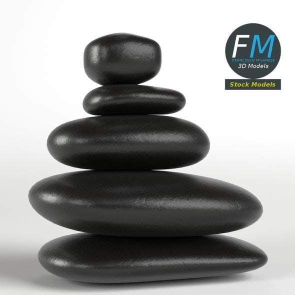 Japanese meditation stones - 3DOcean Item for Sale