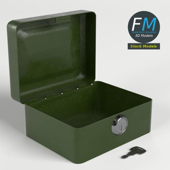 Locked box with key - 3DOcean Item for Sale