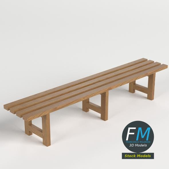 Locker room bench - 3DOcean Item for Sale