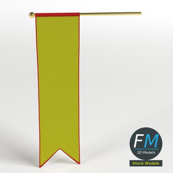 Long medieval banner - 3DOcean Item for Sale