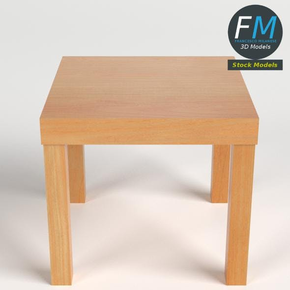 Low square side table - 3DOcean Item for Sale
