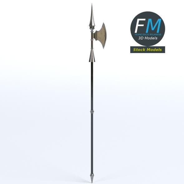 Medieval halberd - 3DOcean Item for Sale