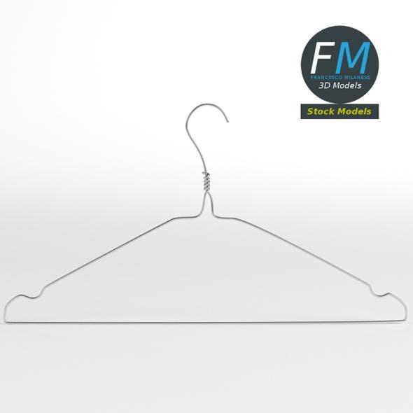 Metal wire coat hanger - 3DOcean Item for Sale