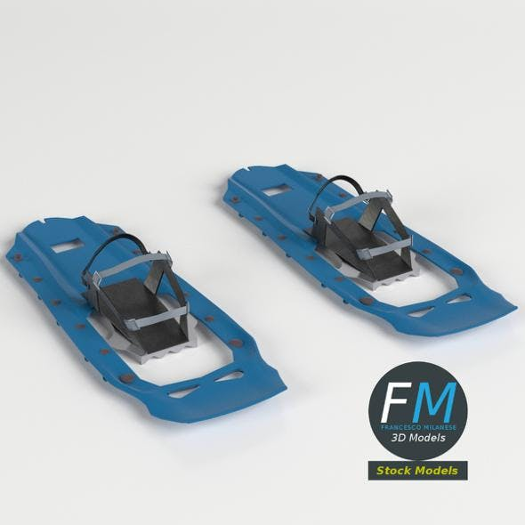 Modern snow shoes - 3DOcean Item for Sale