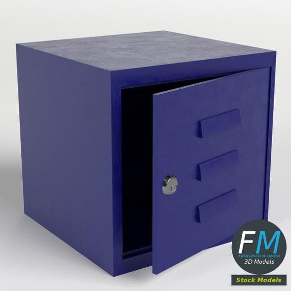 Modular box locker - 3DOcean Item for Sale