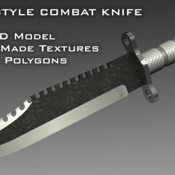 "C4D Low Poly ""Rambo"" Style Survival Knife"