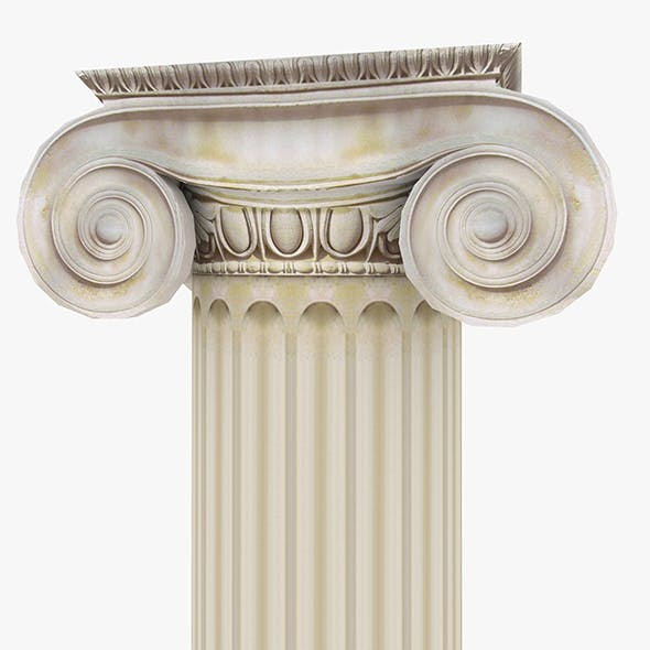 Roman Ionic Piller Low Poly