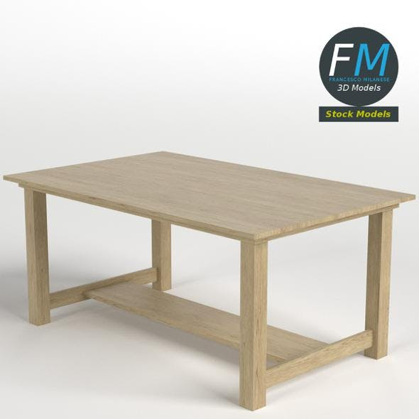Oak desk table - 3DOcean Item for Sale