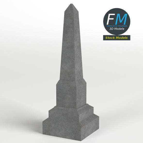 Obelisk gravestone