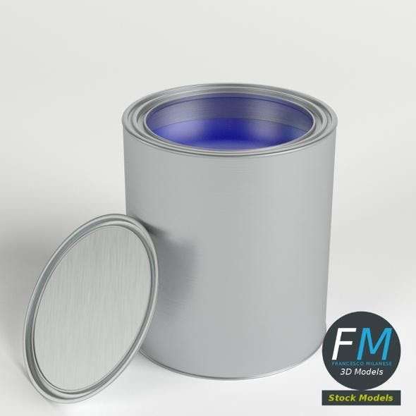Open paint can and lid - 3DOcean Item for Sale