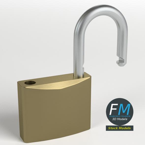 Openable padlock