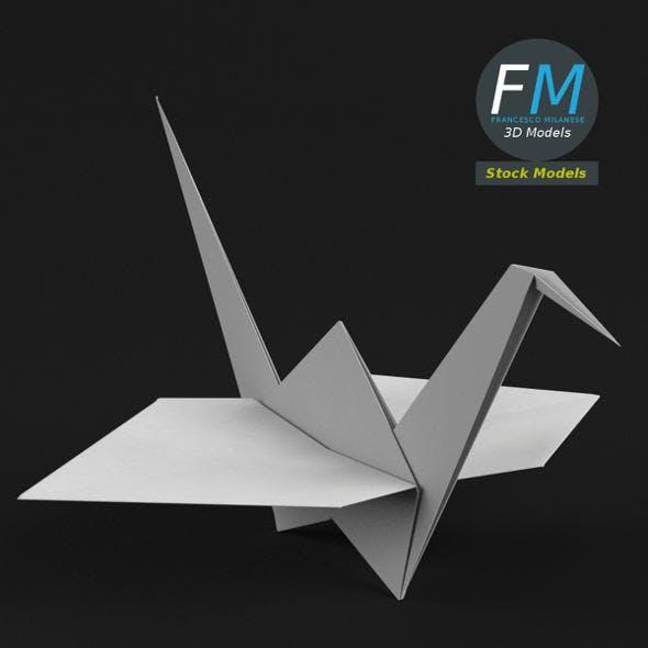 Origami paper crane - 3DOcean Item for Sale