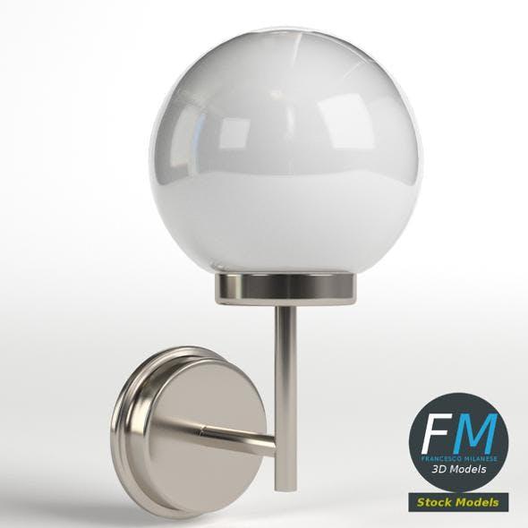 Outdoor applique lamp - 3DOcean Item for Sale