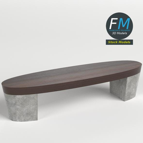 Oval bench - 3DOcean Item for Sale