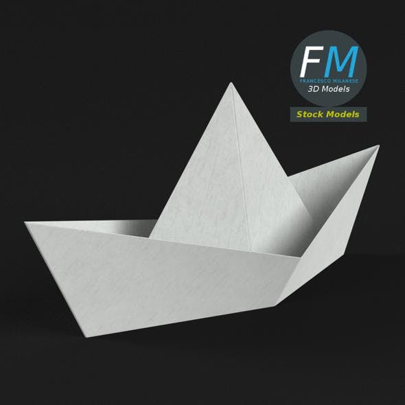 Paper boat - 3DOcean Item for Sale