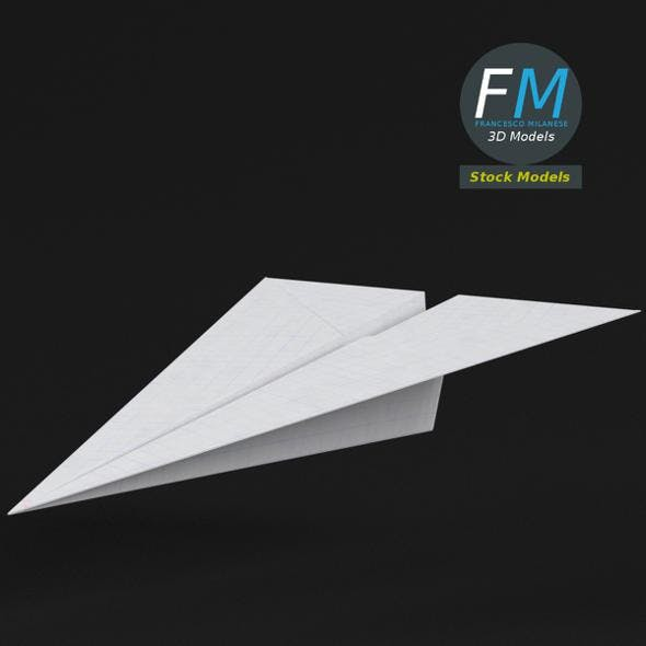 Paper plane 1 - 3DOcean Item for Sale