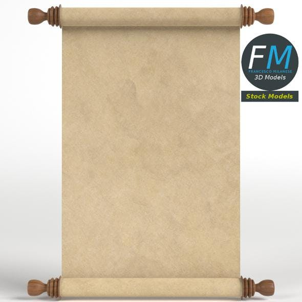 Parchment or paper scroll - 3DOcean Item for Sale