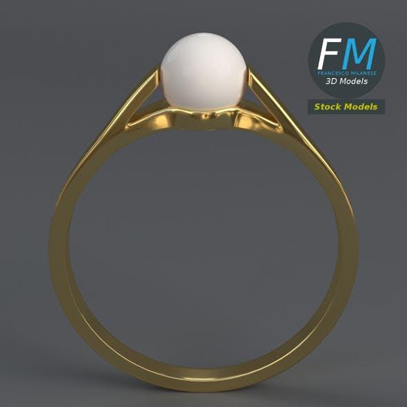 Pearl ring - 3DOcean Item for Sale