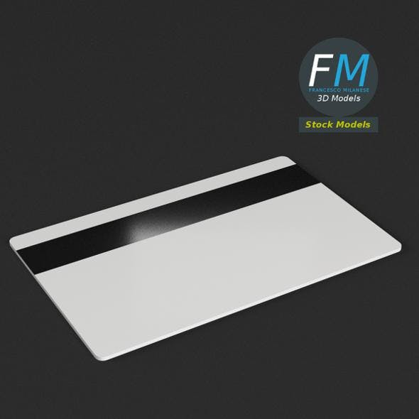 Plastic card with magnetic strip - 3DOcean Item for Sale