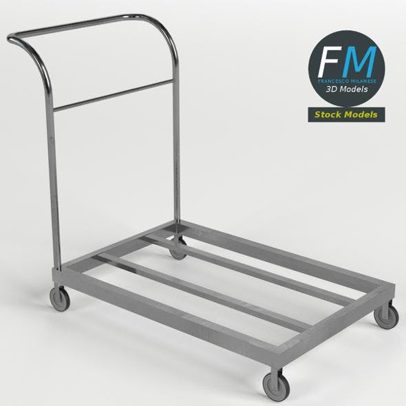 Platform trolley cart 2 - 3DOcean Item for Sale