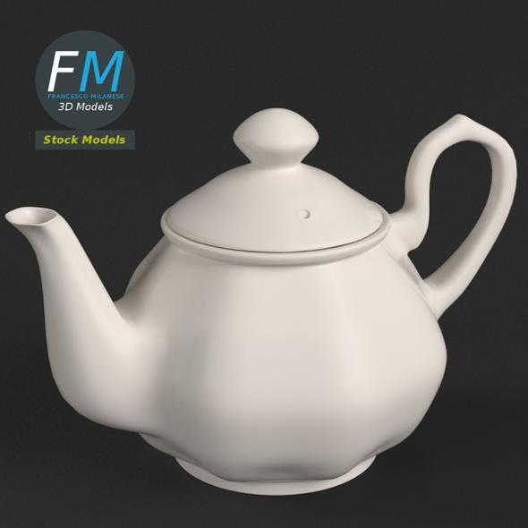 Porcelain teapot 2 - 3DOcean Item for Sale
