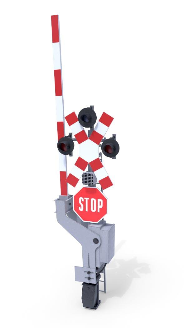Rail Crossing Traffic Light 3 - 3DOcean Item for Sale