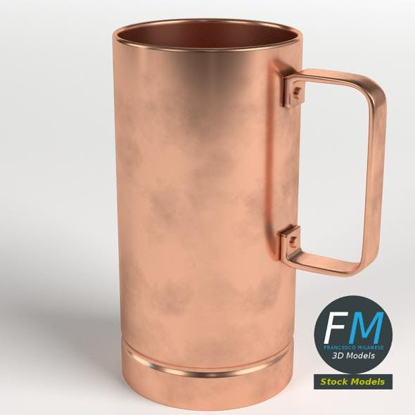 Pure copper tall mug - 3DOcean Item for Sale