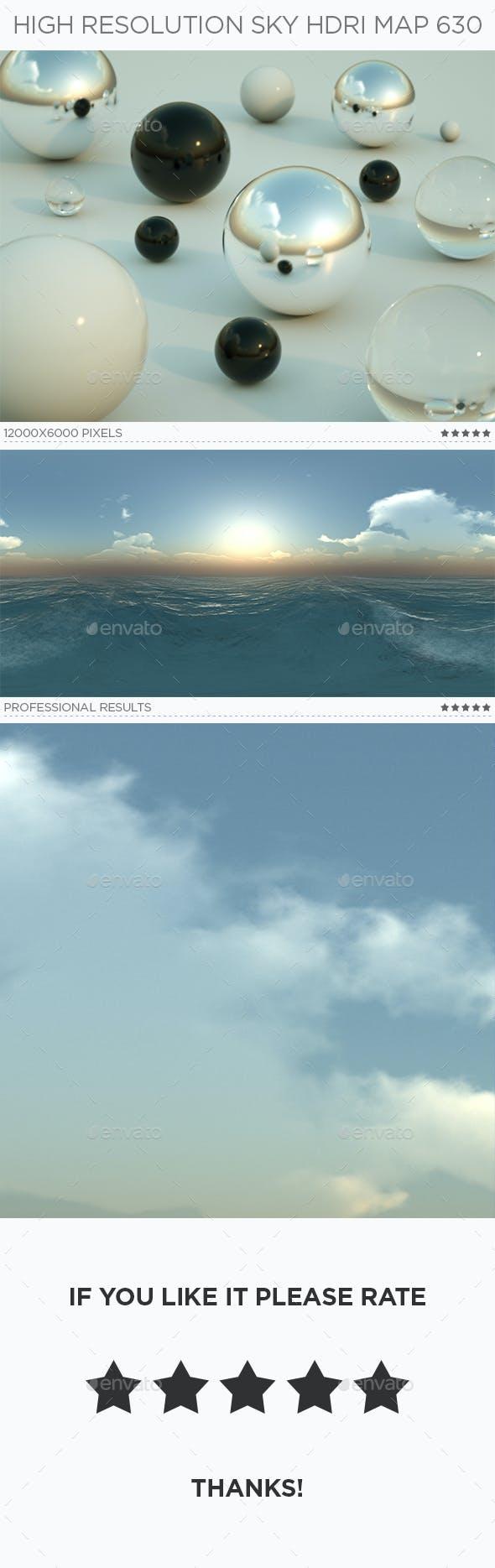 High Resolution Sky HDRi Map 630 - 3DOcean Item for Sale