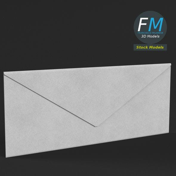Rectangular envelope closed - 3DOcean Item for Sale