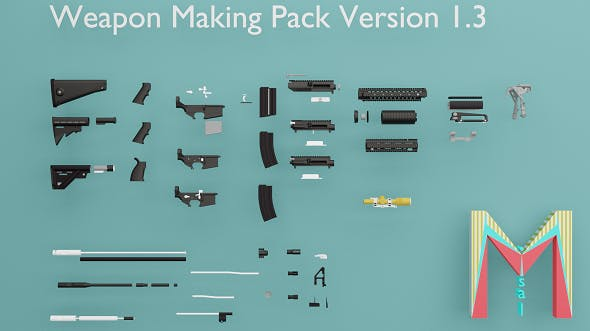 WEAPON SET AND MAKİNG PACK - 3DOcean Item for Sale