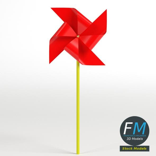 Red pinwheel - 3DOcean Item for Sale
