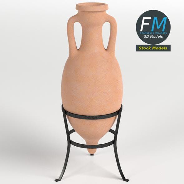 Roman amphora on stand 2