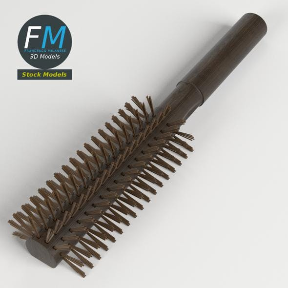 Round hair brush - 3DOcean Item for Sale
