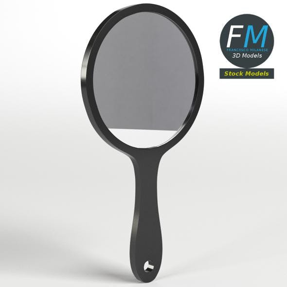 Round handheld mirror