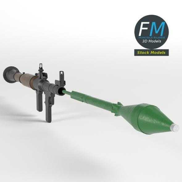 RPG-7 rocket launcher - 3DOcean Item for Sale