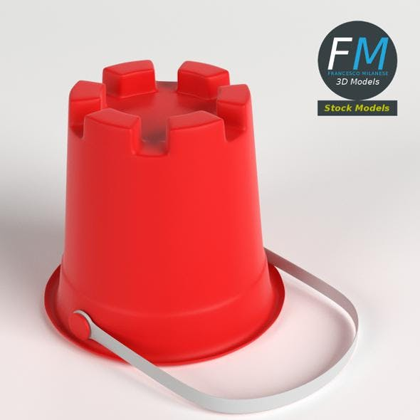 Sand tower bucket - 3DOcean Item for Sale