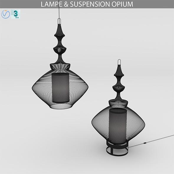 LAMPE & SUSPENSION OPIUM