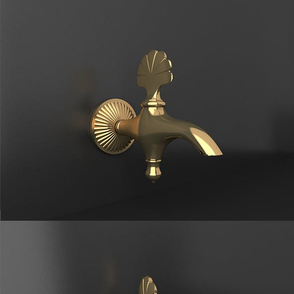 Ottoman Style gold material tap